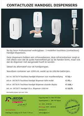 Contactloze hadgel dispensers