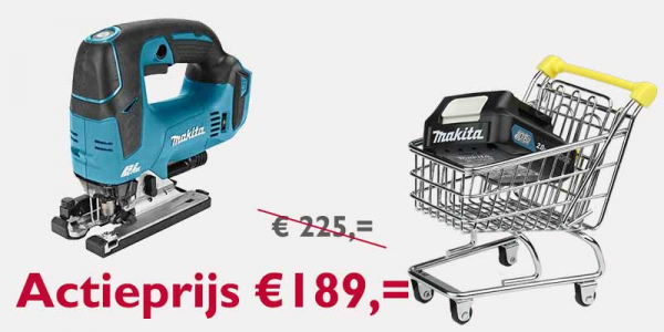 Makita 18V decoupeerzaag D-greep