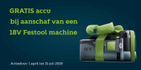 Gratis Bluetooth accupack bij Festool